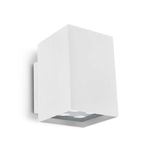 Double Wall Light External : Afrodita LED Double White Exterior Wall Light 05-9773-14-37V2 The Lighting Superstore