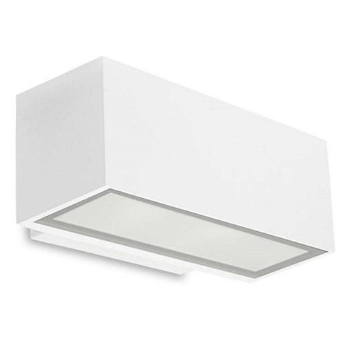 Afrodita LED IP65 Rated White Outdoor Double Wall Light 05-9878-14-Cl The Lighting Superstore