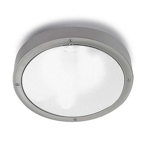 Basik Outdoor LED Grey Wall/Ceiling Flush Light 15-9493-34-Cl
