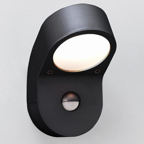 Soprano PIR Outdoor Black Wall Light 0676