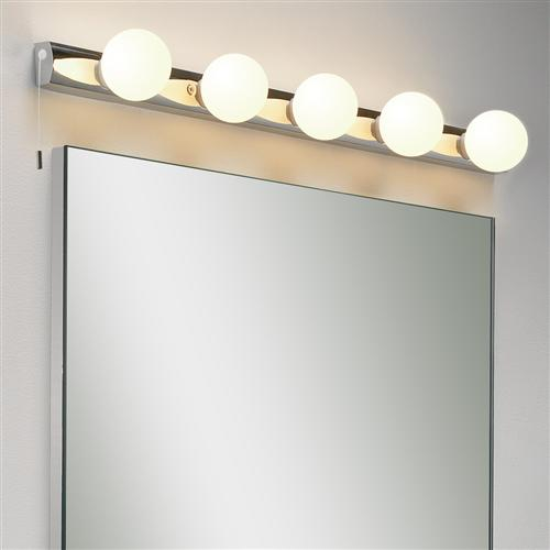 Bathroom mirror lights the lighting superstore cabaret led five mirror light 0957 aloadofball Choice Image