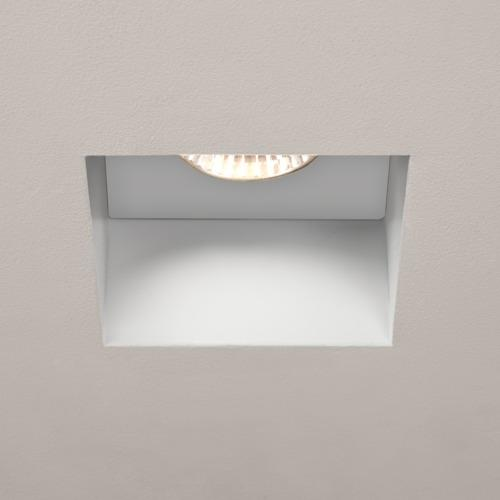 5703 Trimless White LED Recessed Square Fixed spotlight