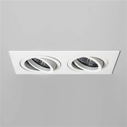 Taro adjustable twin recessed spotlight the lighting superstore taro fire rated white adjustable twin recessed downlight 5710 aloadofball