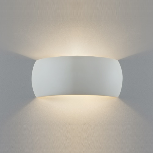 Indoor wall lighting uk the lighting superstore milo plaster wall light paintable 7073 mozeypictures