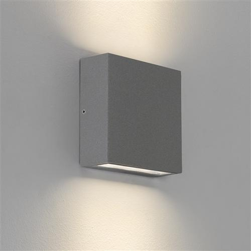 Elis Twin LED Textured Painted Silver Wall Light 1331004 (7204)