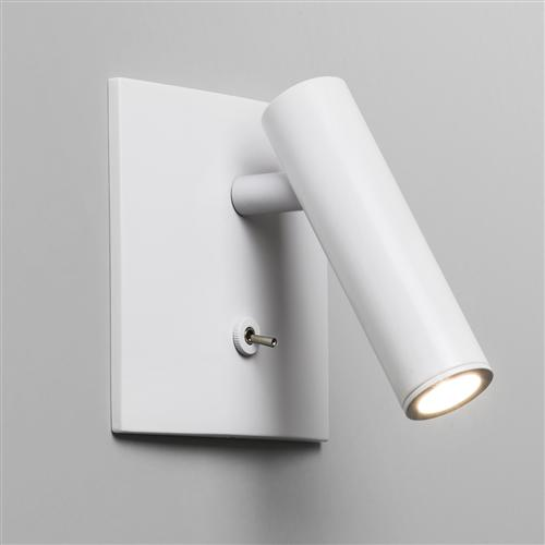 Enna White Square Switched LED Wall Light 7360