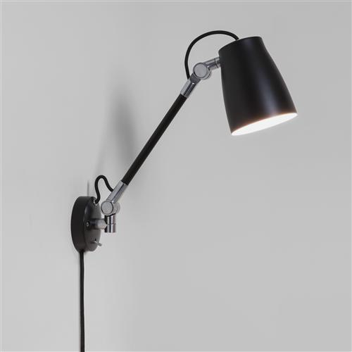 7505 Atelier Grande Black Adjustable Wall Spotlight