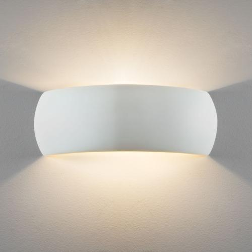 Milo 400 Plaster Wall Light (Paintable) 7506