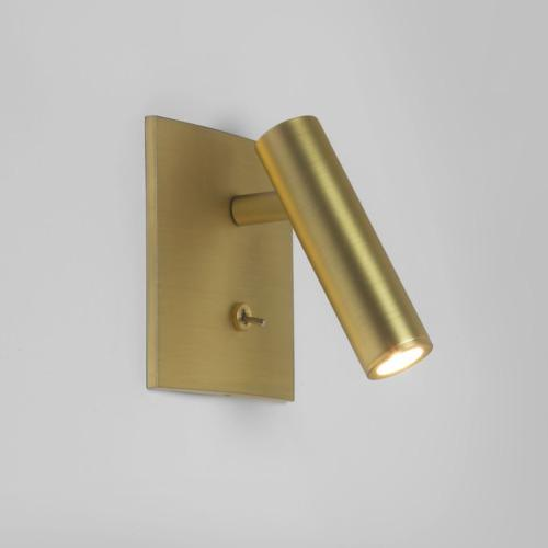 Enna Matt Gold LED Square Switched Wall Light 7550