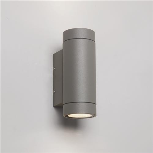 7585 Dartmouth Twin LED Painted Silver Outdoor Wall Light