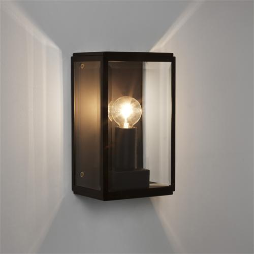Homefield 130 Black Outdoor Wall Light 1095013 (7590)