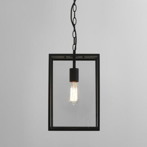 Homefield Black 360 Outdoor ip23 Porch Pendant Light 1095015 (7814)