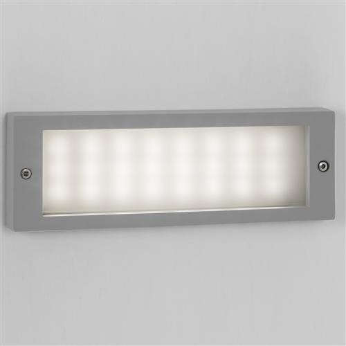 7832 Brick LED Painted Silver Outdoor Recessed Brick Light