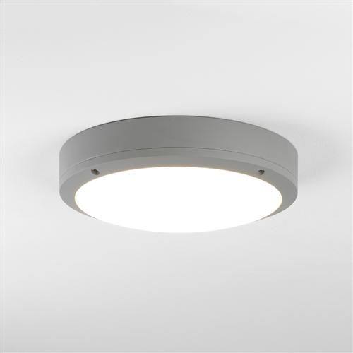 Arta Led Round 275 Silver Painted Ip54 Outdoor Wall Light 7902
