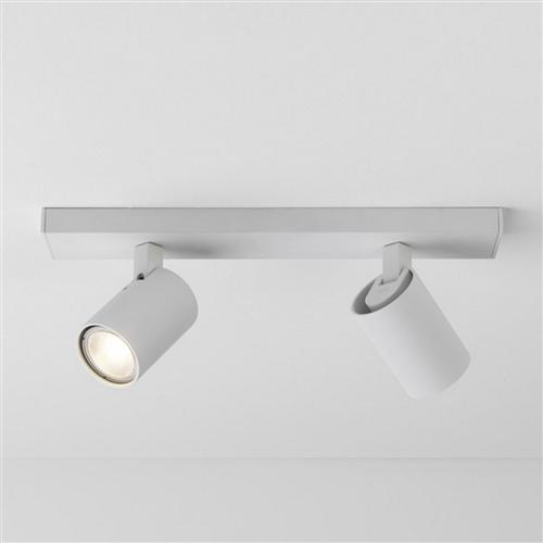 Ascoli LED Textured White Twin Bar Spot 1286034 (6159)