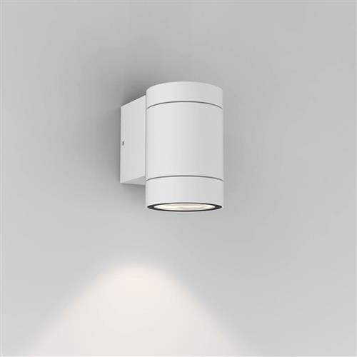 Dartmouth IP54 Textured White Single Outdoor Wall light 1372009 (8536