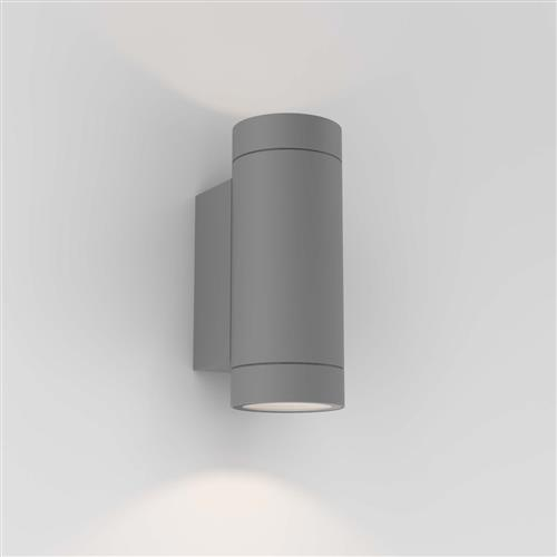 Dartmouth LED Textured Grey Twin Outdoor Wall Light 1372013 (8540)