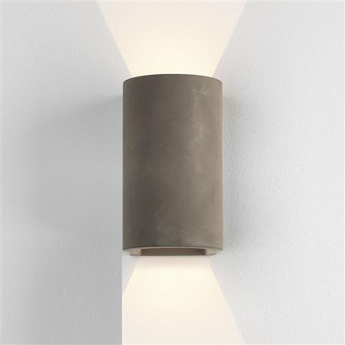Dunbar 160 LED Cast Matt Concrete Outdoor Wall Light 1384020 (8187)