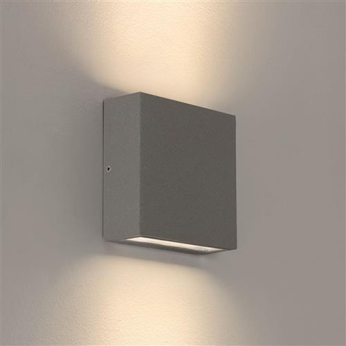 Elis IP54 LED Twin Textured Grey Outdoor Wall Light 1331011 (8200)