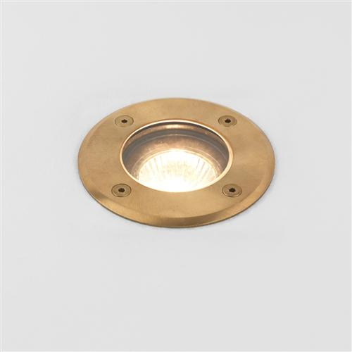 Gramos IP65 Brass Round Walk/Drive-Over Outdoor Light 1312005 (7953)
