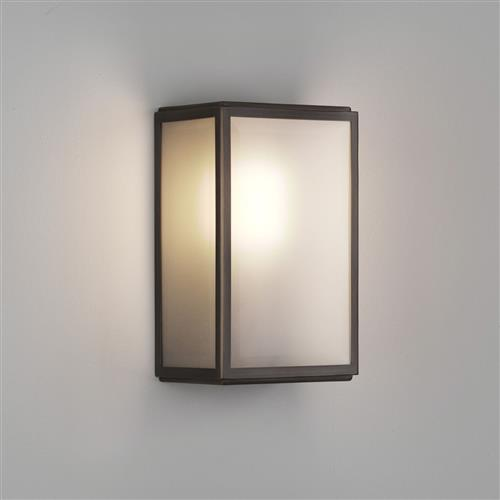 Homefield Bronze IP44 Frosted Outdoor Wall Light 1095030 (8283)