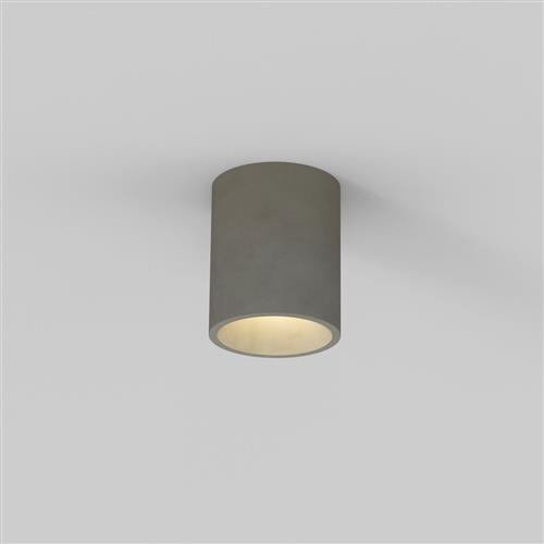 Kos IP44 Round Concrete Ceiling Mounted Outdoor Porch Light 1326014 (8317)