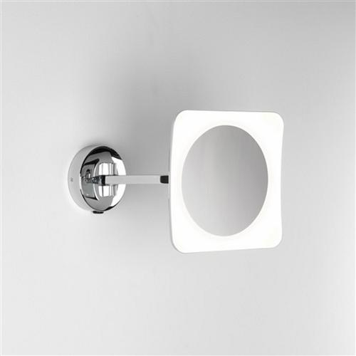 Mascali Square LED Polished Chrome Bathroom Mirror Wall Light 7968