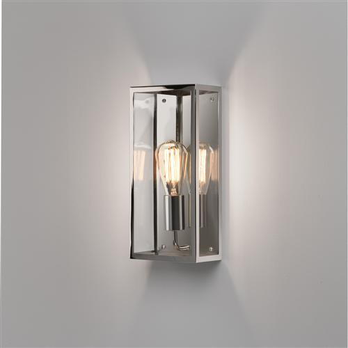 Messina Rectangular Polished Nickel Outdoor Wall Light 1183008 (7879)