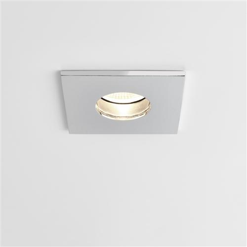Obscura led square ip65 recessed downlight the lighting superstore obscura led square ip65 polished chrome recessed downlight 5766 aloadofball Images