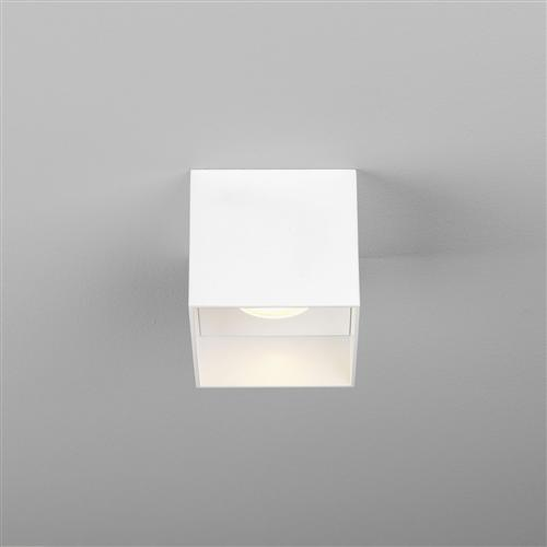 Osca White LED Dimmable Square Ceiling Mounted Light Fitting 1252024 (
