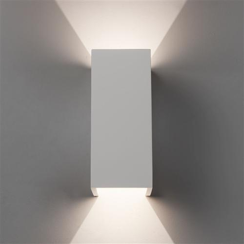 big sale 811b0 c29f9 Parma LED Dimmable Rectangular White Plaster Wall Light 1187021 (8182)