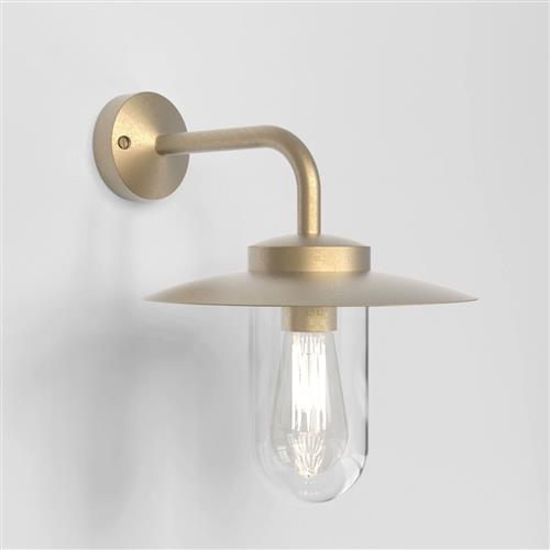 Portree Natural Brass Coastal Outdoor Wall Light 1400001 (8505)