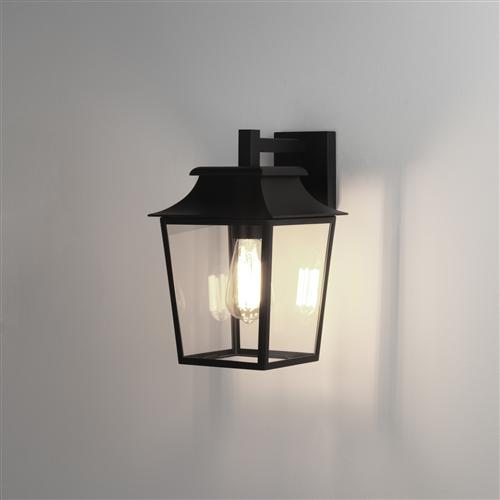 Richmond 200 Black Outdoor Ip23 Porch Wall Lantern 1340004 (7966)