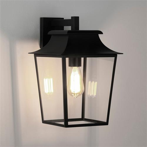 Richmond 254 LED Textured Black Outdoor Wall Porch Lantern 8050