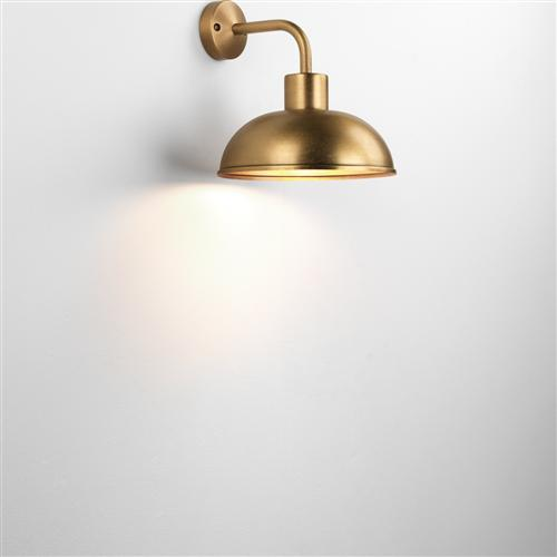 Stornoway Antique Brass Ip23 Outdoor Porch Wall Light 7980