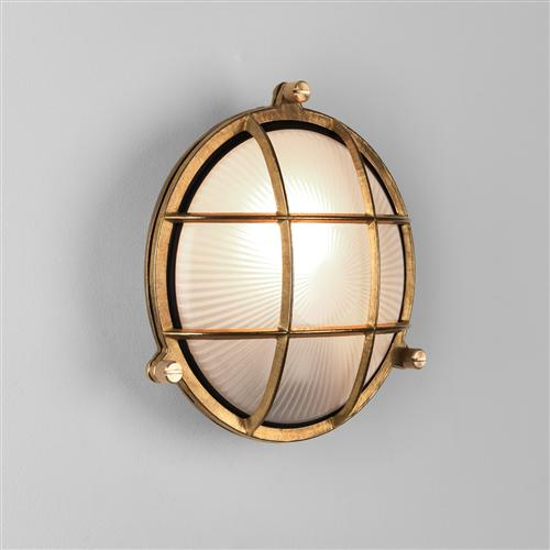 Thurso IP44 Round Brass Exterior Wall/Ceiling Light 1376001 (7880)