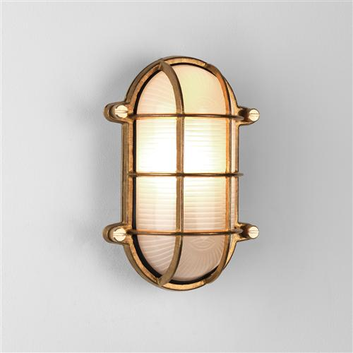 Thurso Oval IP44 Natural Brass Wall/Ceiling Light 1376002 (7881)