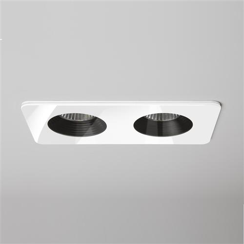 Vetro IP65 Rated Twin White LED Recessed Downlight 1254015 (5748)