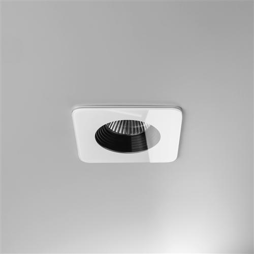 Vetro Square White LED Fire Rated Recessed Light 1254007 (5731)