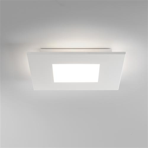 Zero Square LED White Semi Flush Ceiling fitting 1382001 (7419)