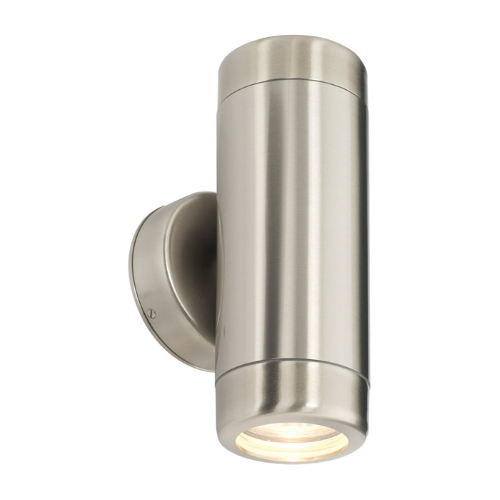 Atlantis Stainless Steel Twin Coastal wall light 14015