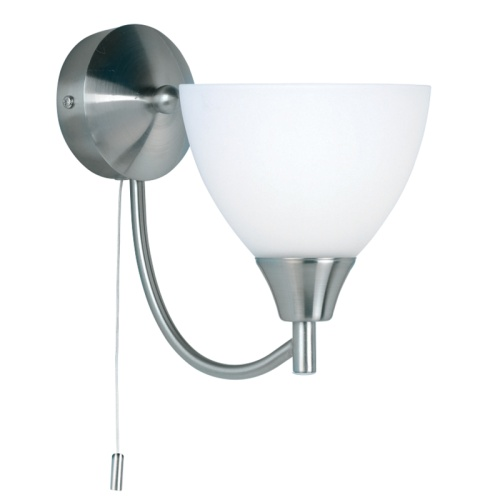 Alton Single Wall Light Satin Chrome 1805-1Sc