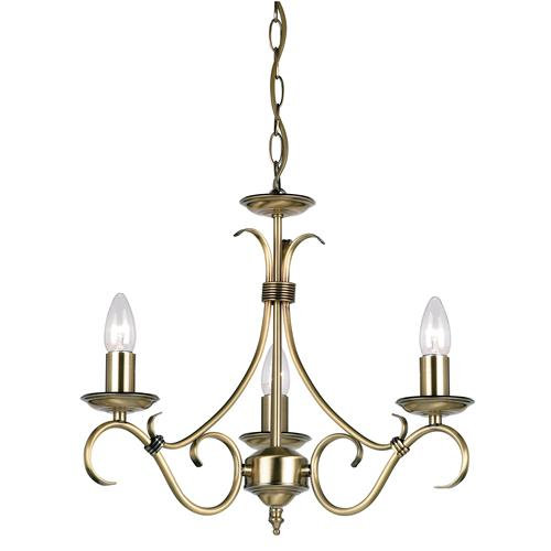 Three Arm Ceiling Pendant 2030-3An