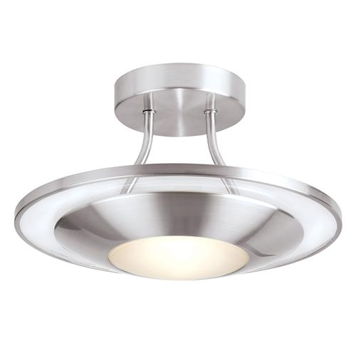 Firenz Satin Chrome Semi-Flush Light 387-30SC
