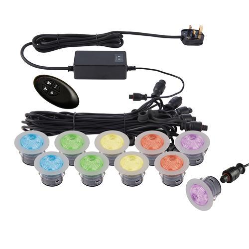 led rgb remote control decking light kit lighting superstore