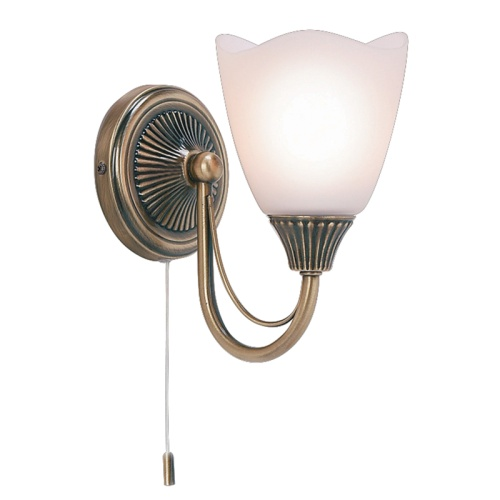 601-1AN Single Traditional Wall Light