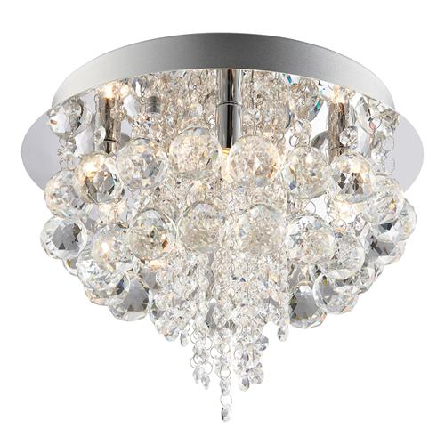 60196 Olmos Crystal Flush Ceiling Fitting