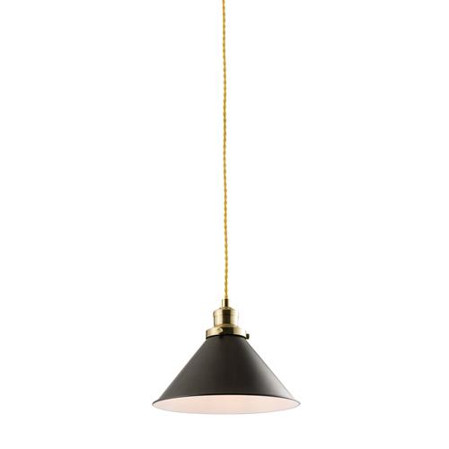 60199 Downton Matt Black Ceiling Pendant Light