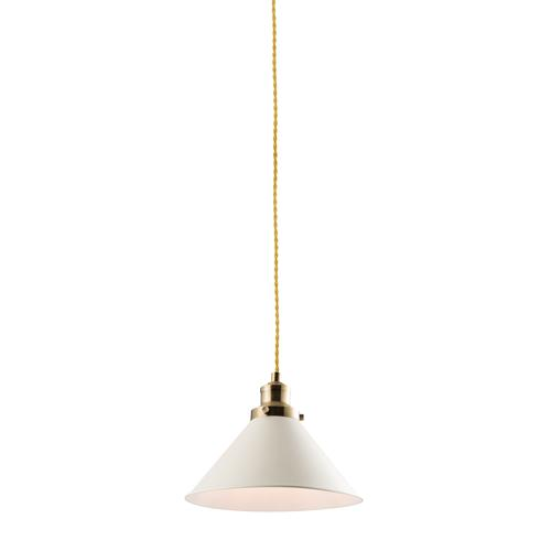 60208 Downton Matt White Ceiling Pendant