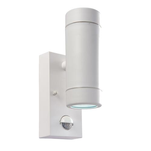Icarus White LED Exterior PIR Spotlight. 61007